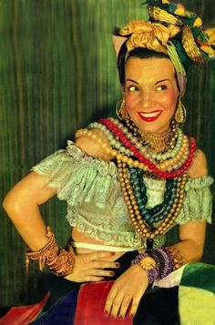Carmen Miranda and all her fabulous accessories
