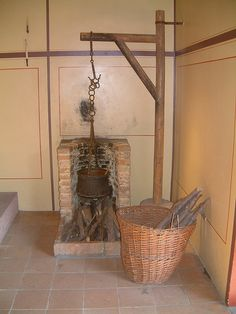 A fireplace in the kitchen of the roman house in Augusta Raurica (Augst near Basle, Switzerland).   © All Rights Reserved, Rainer (bonho1962)