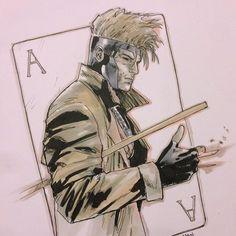 clay-mann: Gambit sketch #gambit #marvel... - Art Vault