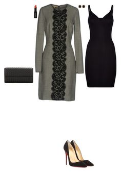 """""""Lunch with leaders"""" by stylev ❤ liked on Polyvore featuring Wolford, Jona, Michael Kors, Christian Louboutin, Bottega Veneta and Smashbox"""