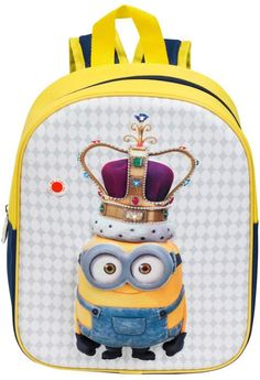 Les Minions Children's Backpack Yellow with LED lights on Crown Minions, Minion Nursery, Birthday Crafts, School Bags, Fashion Backpack, Backpacks, Yellow, Accessories, Ebay