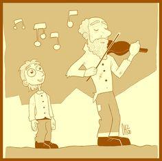 I genitori di Verdi gestivano un'osteria che era un luogo ideale di ristoro per viandanti, carrettieri e commercianti. Il piccolo Peppino aiutava spesso i genitori e a volte si fermava a guardare chi giocava alle carte. Quando però gli giungeva all'orecchio la musica di uno strumento, abbandonava tutto e si affacciava all'uscio di casa per ascoltare. Fu così che un giorno un anziano suonatore di violino colpito dal suo interesse, suggerì al padre di fargli studiare musica. Quanto aveva…
