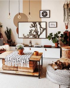 Ideas to Supercharge Your Bohemian Home Decor - boho decor diy Boho Living Room, Living Room Decor, Bedroom Decor, Decor Crafts, Diy Home Decor, Tv Wall Decor, Paint Decor, Home And Deco, Home Decor Inspiration