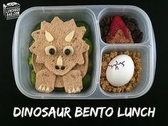 Good Lunch snack - 20 Ultimate Healthy Snack Ideas For Picky Eaters. Cute Food, Yummy Food, Dinosaur Food, Dinosaur Party, Food Art For Kids, Easy Food Art, Kids Lunch For School, School Lunches, Bag Lunches