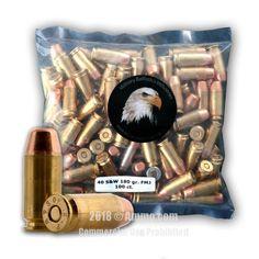 MBI 40 cal Ammo - 1000 Rounds of 180 Grain FMJ Ammunition #MBI #MBIAmmo #40CalAmmo #40Cal #FMJ