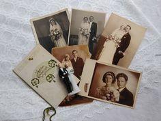 Vintage wedding pack, small bisque porcelain wedding couple, 5 pcs. vintage photo-postcards, brides, bridegrooms,antique engagement card Wedding Couples, Wedding Photos, Engagement Cards, Etsy Shipping, Photo Postcards, Little Gifts, Vintage Photos, Brides, Porcelain