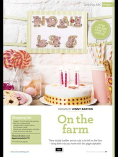 On the Farm The World of Cross Stitching  Issue 240 April 2016 Zinio Saved