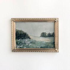 4x6 Wildflower Meadow Painting Original Painting Moody | Etsy