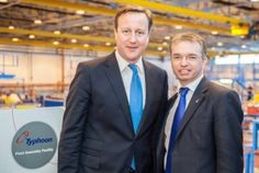 David Cameron & Mark Menzies MP at BAE Warton