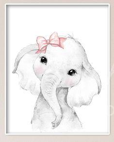 Baby Girl Nursery Decor, Safari Nursery, Animal Nursery, Elephant Nursery Art, Animal Set, Foto Baby, Safari Animals, Baby Prints, Paper Products