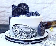 ideas birthday cake decorating ideas for men desserts Small Birthday Cakes, Birthday Cupcakes, Happy Birthday, Men Birthday Cakes, Birthday Ideas, Car Cakes For Men, Cakes For Boys, Pretty Cakes, Cute Cakes