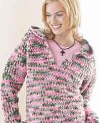 Hooded crochet jumper free pattern