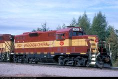 RailPictures.Net Photo: WC 1502 Wisconsin Central EMD GP7 at Trout Lake, Michigan by Chuck Schwesinger