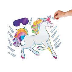 Amazon.com: Fun Express Pin The Horn On The Unicorn Party Game: Toys & Games