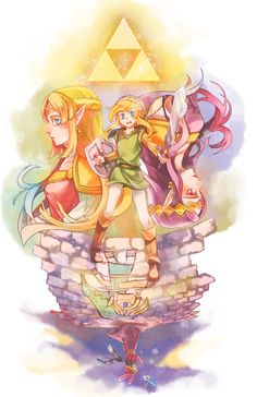 The Legend of Zelda: A Link Between Worlds artwork by 607.