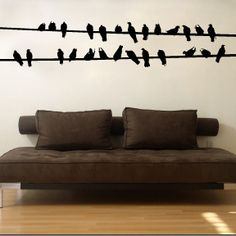 Bird Wires Wall Decals | Wall Stickers | Walls Need Love Vinyl Art | a99