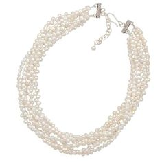 """In the words of CoCo Chanel, """"A woman needs ropes and ropes of pearls."""" #SwellCaroline could not agree anymore! You can achieve this timeless and sophisticated look with the six-strand freshwater pearls. #Pearls #PerfectlyPreppy"""