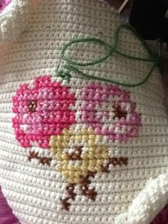 cross stitch on crochet ༺✿ƬⱤღ✿༻