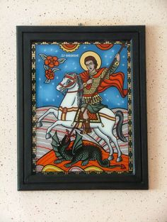 s 06 Religious Images, Religion, Painting, College, Saint George, Glass, University, Painting Art, Religious Education