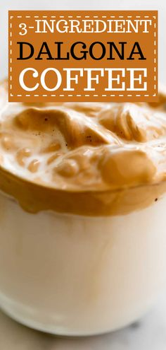 3-Ingredient Dalgona Coffee. This whipped coffee has become popular lately, and for good reason—it's delicious! Dalgona coffee is incredibly easy to make with only 3 ingredients! fluffy and deliciously whipped in no time.#coffee #whippedcream #drinks Coffee Tasting, Coffee Cafe, Best Comfort Food, Comfort Foods, Quick And Easy Breakfast, Breakfast Ideas, Lactose Free Milk, Great Recipes, Favorite Recipes