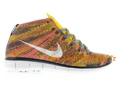 Officiel Nike Free Flyknit Chukka Chaussures Nike Running Pour Homme Mid  Navy/White-True
