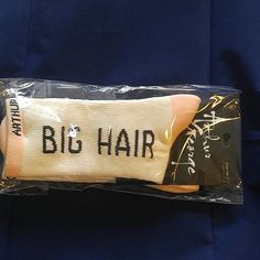 "Arthur George socks by Rob Kardashion Cream and peach ""Big Hair Don't Care"" socks by Arthur George for Rob Kardashion Arthur George Accessories Hosiery & Socks"