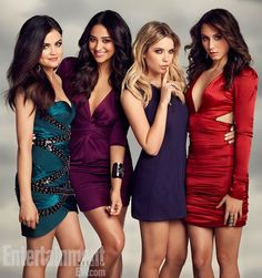 I love Troian Bellisario's (right) dress!!  Shay Mitchell's (2nd from the left) too!