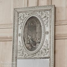 Antique Trumeau Mirror | 19th Century French Neoclassical Painted Console/Trumeau | www.inessa.com