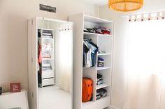Antes e depois: Meu quarto de hóspedes – Closet