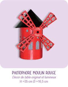 PHOTOPHORE MOULIN ROUGE EN CARTON © CARTONS DUDULLE