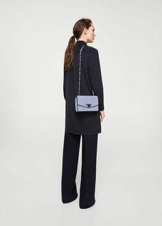 Skórzana torebka z łańcuchem | MANGO