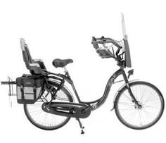 Dutchbike.co.uk Mummybike - seats 3 (adult and two kids) with storage and buggy carrier rack.