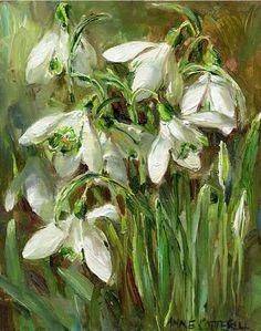 Snowdrops | Mill House Fine Art – Publishers of Anne Cotterill Flower Art