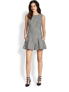 RED Valentino - Gingham Short Jumpsuit - Saks.com