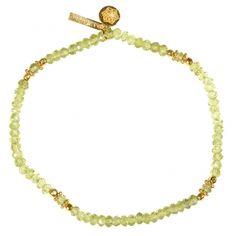"""Bracelet plaqué or """"Uma"""" Péridote"""