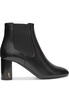 Heel measures approximately 65mm/ 2.5 inches Black leather Pull on Made in ItalySmall to size. See Size & Fit notes