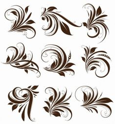 Find Vector Set Swirls Variety Handdrawn Floral stock images in HD and millions of other royalty-free stock photos, illustrations and vectors in the Shutterstock collection. Khafif Mehndi Design, Basic Mehndi Designs, Beginner Henna Designs, Mehndi Designs For Girls, Mehndi Designs For Fingers, Latest Mehndi Designs, Bridal Mehndi Designs, Arabesque, Molduras Vintage