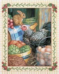 images of country kitchen art prints - Google Search