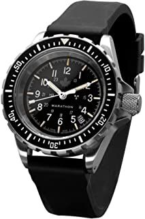 Sailing Watch, Tritium Watches, Marathon Watch, Military Issue, Expensive Watches, Luxury Watches For Men, Automatic Watch, Black Rubber, Stainless Steel Bracelet