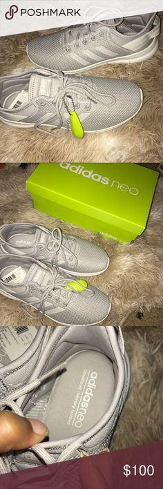 Adidas cloudfoam sneakers New in box size 7 gray and white adidas cloud foam sneakers adidas Shoes Sneakers