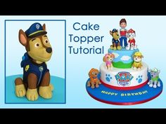 Paw Patrol (Cake Toppers) Part 1: Chase / Patrulla de cachorros Parte 1: Chase - YouTube