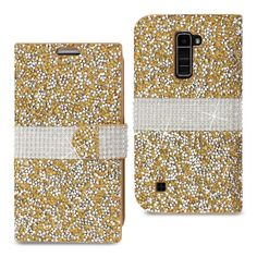 LG K10 Jewelry Rhinestone Wallet Case in 7 Colors