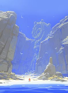 ArtStation - RIME - Alone in a mystery island, Jose Luis Vaello Bertol