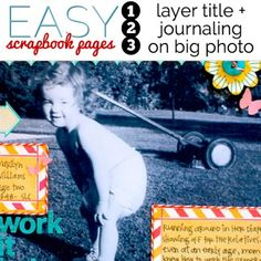 How to Make Easy Scrapbook Pages | Get It Scrapped
