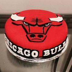 Chicago Bulls Cake! By GetBakedCakery!