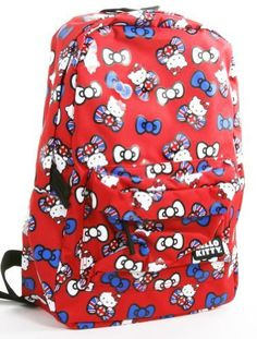 Hello Kitty Union Jack Bow All-over Red Backpack Book Bag www.4everfunky.com!