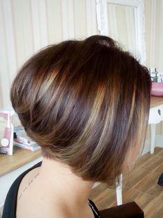Great cut and color! #LeEveHairSalon #InvertedBob