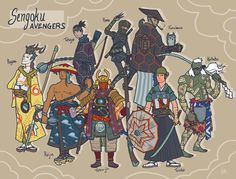 The Avengers, also in Japanese Edo Period's version. guess which one's who??