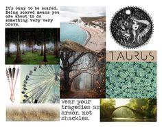 """Taurus Aesthetic"" by meranda-joi ❤ liked on Polyvore featuring art, zodiac, Taurus, Horoscope and aesthetic"