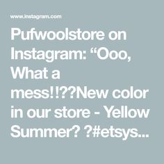 Us Store, Etsy Shop, Wool, Yellow, Instagram Posts, Summer, Summer Time, Verano, Gold
